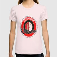 Feyenoord chain Rotterdam crest Womens Fitted Tee Light Pink SMALL