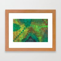 Green Pyramids Framed Art Print