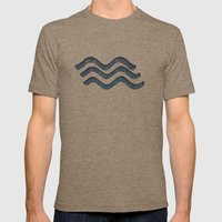 Water Mens Fitted Tee Tri-Coffee SMALL