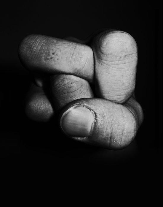 Tangled fist Art Print