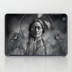 Black and white portrait-Sitting bull iPad Case