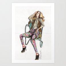 Floral Fashion Art Print