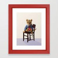 Tiny Tiger Valentine Framed Art Print