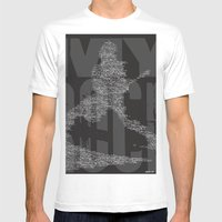 MyRock Mens Fitted Tee White SMALL