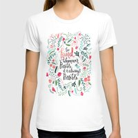 Be Kind Womens Fitted Tee White SMALL