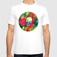 Skull N Roses Mens Fitted Tee White SMALL