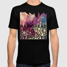 Radiohead: I Will See You in the Next Life SMALL Black Mens Fitted Tee