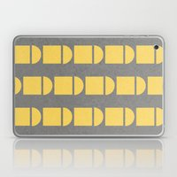 Yellow and grey fun Laptop & iPad Skin