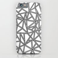 iPhone & iPod Case featuring Abstract New Black on White by Project M