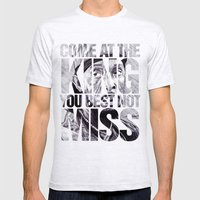 Omar Little Mens Fitted Tee Ash Grey SMALL