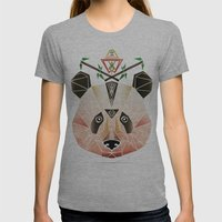 Panda! Womens Fitted Tee Athletic Grey SMALL