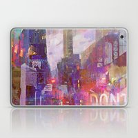 Snowstorm on the city Laptop & iPad Skin