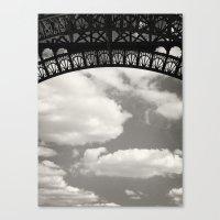 Black Lace Of Eiffel Tow… Canvas Print