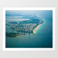 Miami Aerial Art Print
