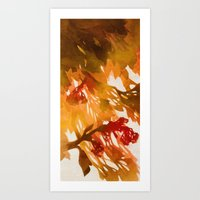 Morning Blossoms 2 - Red… Art Print