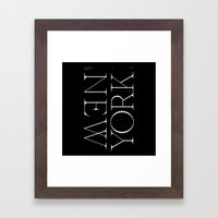 NYC Typography Framed Art Print