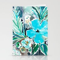BLUE HAWAII HIBISCUS Stationery Cards