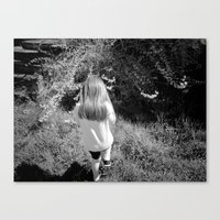 Pickin' Flowers In The S… Canvas Print