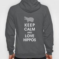 Keep Calm and Love Hippos Hoody