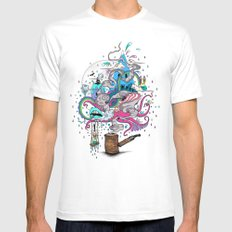 Pipe Dreams White Mens Fitted Tee SMALL