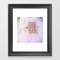 Little Photographer. Framed Art Print
