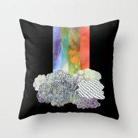 Clouds & Rainbow Throw Pillow