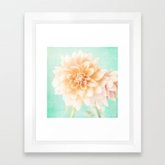 Flower Peachy Bloom Framed Art Print