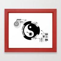 Tech Yin Yang Framed Art Print