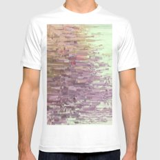 Mini square colors Mens Fitted Tee SMALL White