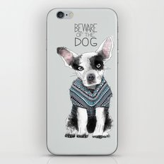 Beware of the dog iPhone & iPod Skin