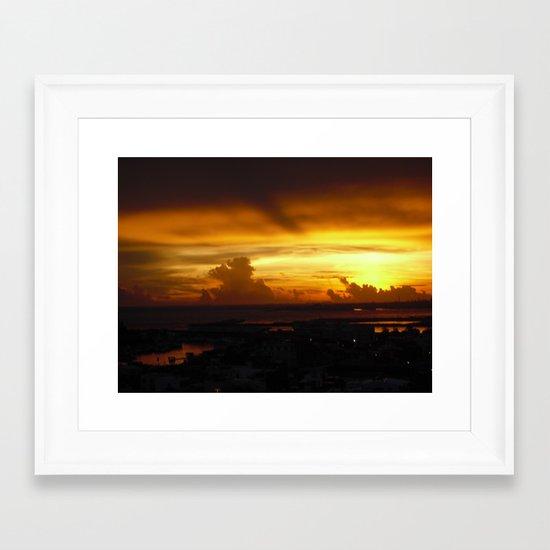 Speaking Sunset Framed Art Print