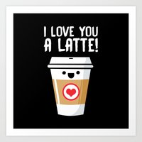 Latte Love Art Print