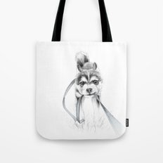 The Perseverance of a Puppy :: Siberian Husky Tote Bag