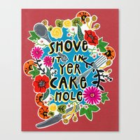 Cake Hole Canvas Print