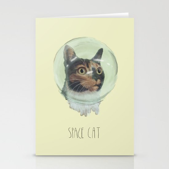 Space Cat Stationery Card