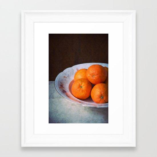 orange time Framed Art Print