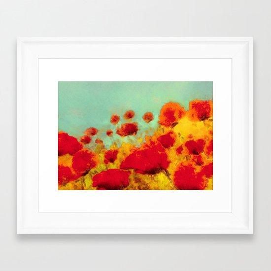 FLOWERS - Poppy time Framed Art Print