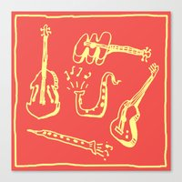 Happy Music Canvas Print