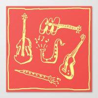 Happy Music Canvas Print