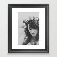 Princesa del Flor Framed Art Print