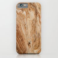 Gold Clouded Marble Text… iPhone 6 Slim Case