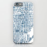 Washington DC Blueprint watercolor map iPhone 6 Slim Case