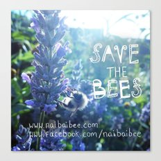 Save the Bees Campaign Canvas Print