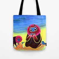Lions and Sand Castles Tote Bag