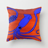 Leopold The Squid Throw Pillow