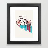 Discover Hong Kong Bicycle Framed Art Print