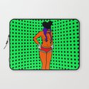STRIP.  (Mouseketeer).  (On Green). Laptop Sleeve