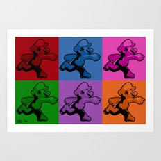 Warholian Mario Art Print