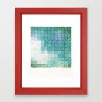 Polaroid Pixels IV (Clou… Framed Art Print