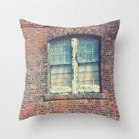 Old Mill Windows Throw Pillow